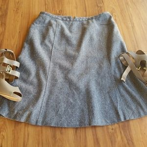 ANN TAYLOR Petites grey pencil professional skirt